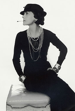 Coco Chanel's iconic black dress